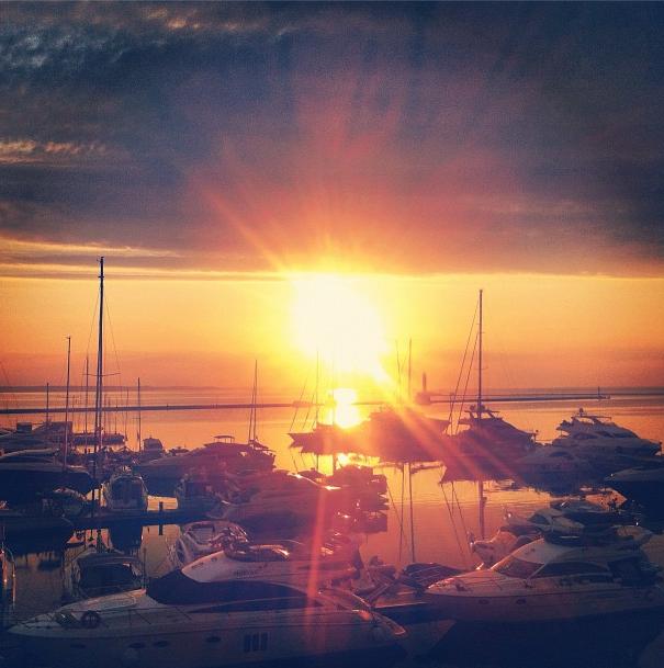 Sunrise in Odesa